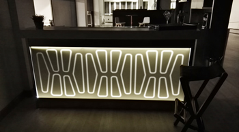 El krion y su capacidad de retroiluminación en mostradores