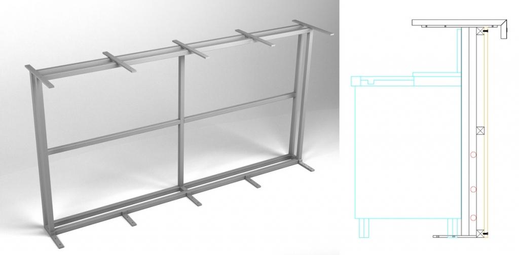 Modelo HFBB-2. - Bastidor de barra doble